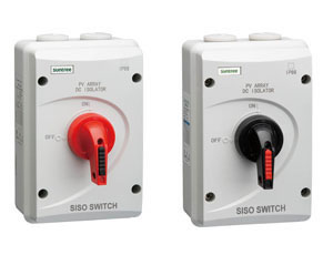 63A DC Isolator switch with IP66 Plastic